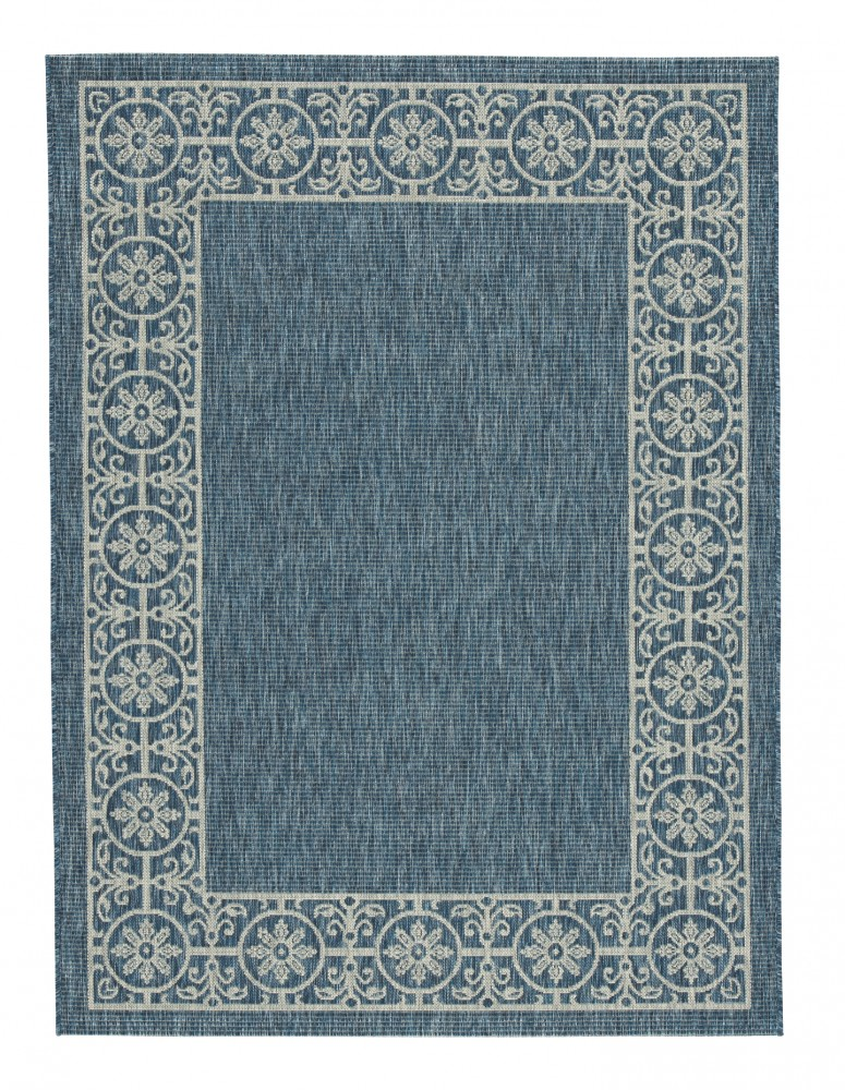 Jeb - Blue/Tan - Large Rug