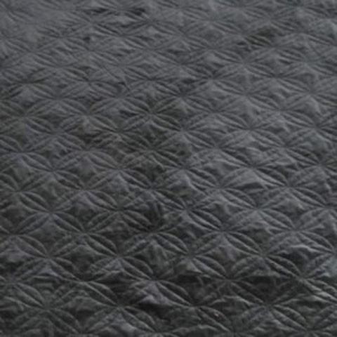 Linette - Black - King Quilt Set