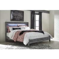 Baystorm - Gray - King Panel Footboard w/ Rails