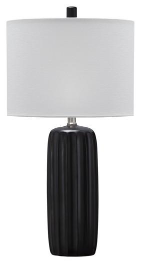 Superior Adorlee   Black   Ceramic Table Lamp (2/CN)