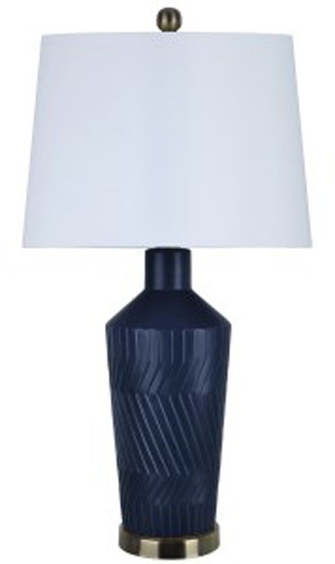 Beau Leroi   Blue   Ceramic Table Lamp (2/CN)