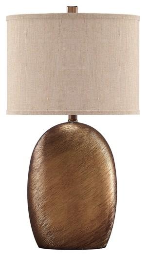 Lewelyn Copper Finish Ceramic Table Lamp 2 Cn L100614