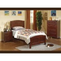 Medium Brown Twin Bed