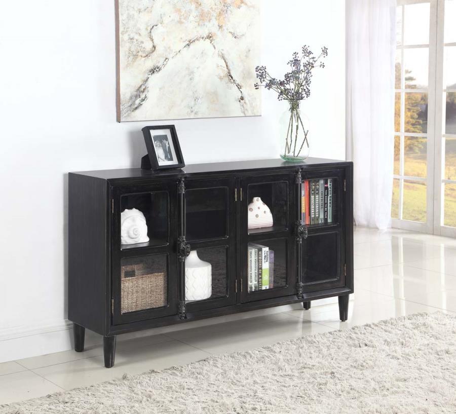 Transitional Black Accent Cabinet 950780 Decorative