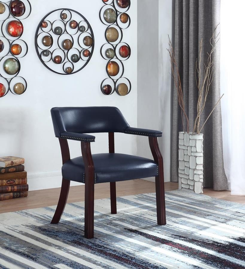 HOME OFFICE : CHAIRS - Traditional Blue Home Office Chair