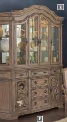 ILANA COLLECTION - Ilana Traditional China Cabinet