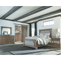 Florence Traditional Rustic Smoke and Grey California King Five-Piece Set