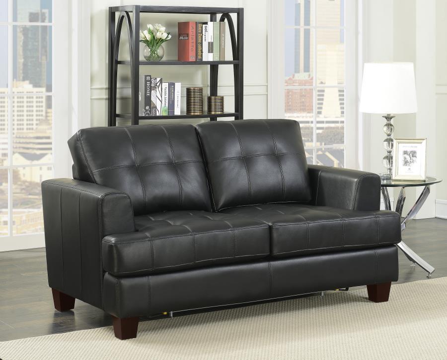 Samuel Transitional Black Loveseat Sleeper | 501689 | Sleeper Sofa ...