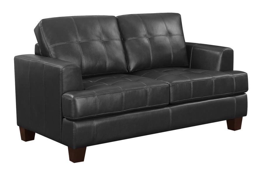 Brilliant Samuel Transitional Black Loveseat Sleeper Lamtechconsult Wood Chair Design Ideas Lamtechconsultcom
