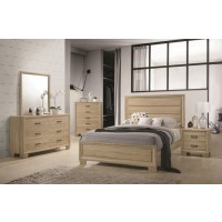 Vernon Transitional Whitewashed Oak Queen Five-Piece Set