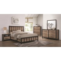 Edgewater Industrial Weathered Oak Full Four-Piece Set