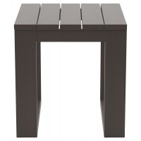 Cordova Reef - Dark Brown - Square End Table