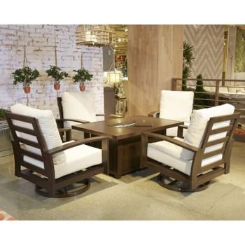 Cordova Reef - Dark Brown - Swivel Lounge Chair (2/CN)