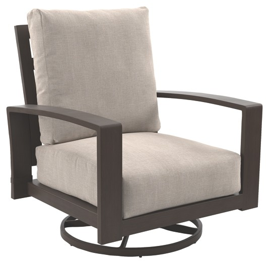 Cool Cordova Reef Dark Brown Swivel Lounge Chair 2 Cn Short Links Chair Design For Home Short Linksinfo