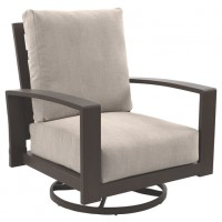 Cordova Reef - Dark Brown - Swivel Lounge Chair (2/CN)