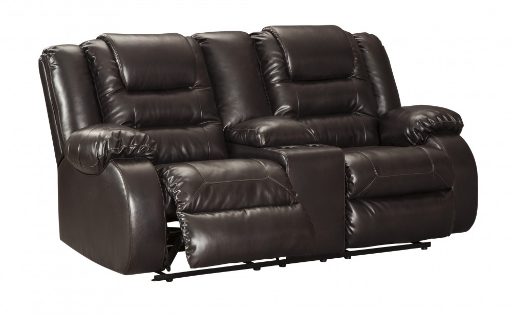 Vacherie - Chocolate - DBL Rec Loveseat w/Console