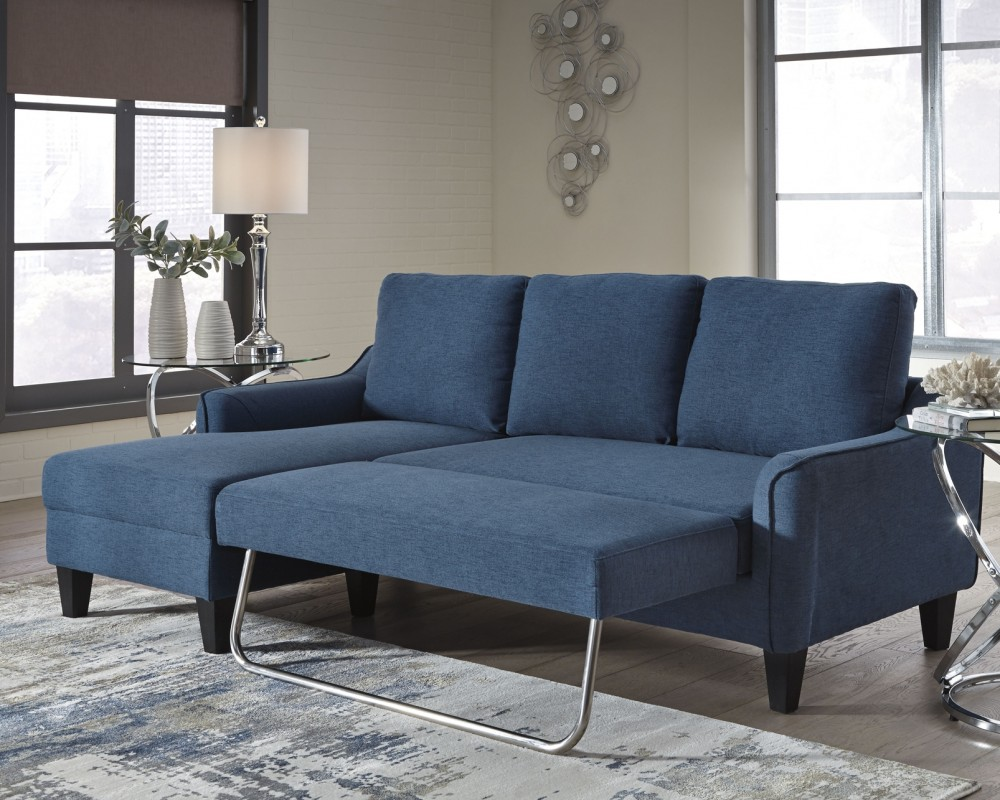 2 couch living room jarreau blue sofa sleeper 1150371 sleeper 15698