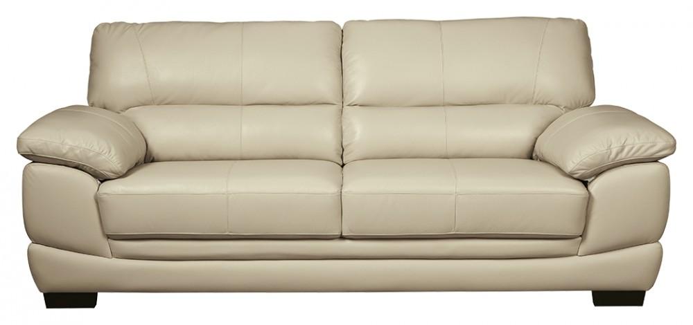 Leather Cream Sofa - Rigakublog.com -