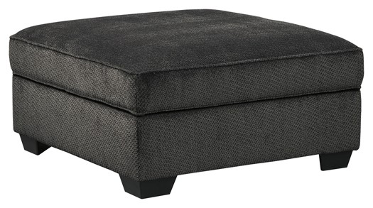 Charenton - Charcoal - Ottoman With Storage