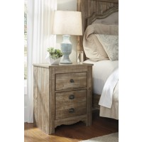 Shellington - Caramel - Two Drawer Night Stand