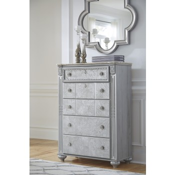 Zolena - Silver - Five Drawer Chest