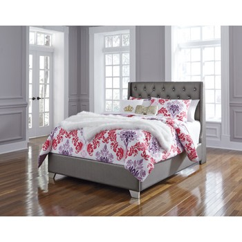 Coralayne Full Upholstered Footboard with Rails