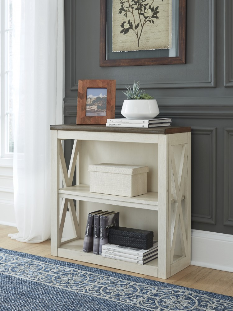 Bolanburg - Two-tone - Bookcase Desk Return