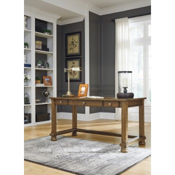 Flynnter - Medium Brown - Home Office Desk