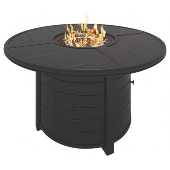 Castle Island - Dark Brown - Round Fire Pit Table