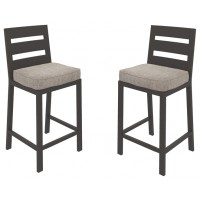 Perrymount - Brown - Barstool with Cushion (2/CN)