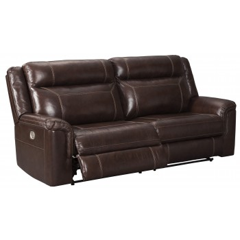 Wyline - Coffee - PWR REC Sofa with ADJ Headrest