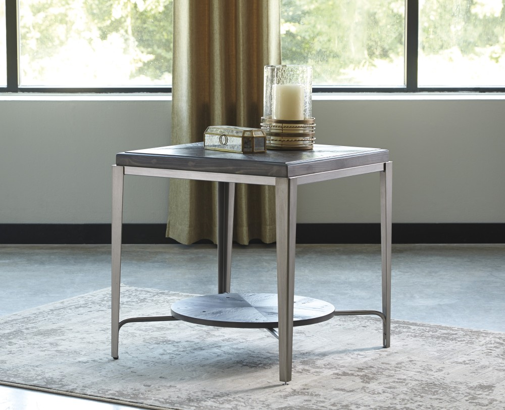 Flandyn   Gray   Square End Table