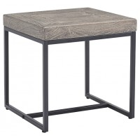 Brazin - Gray - Square End Table