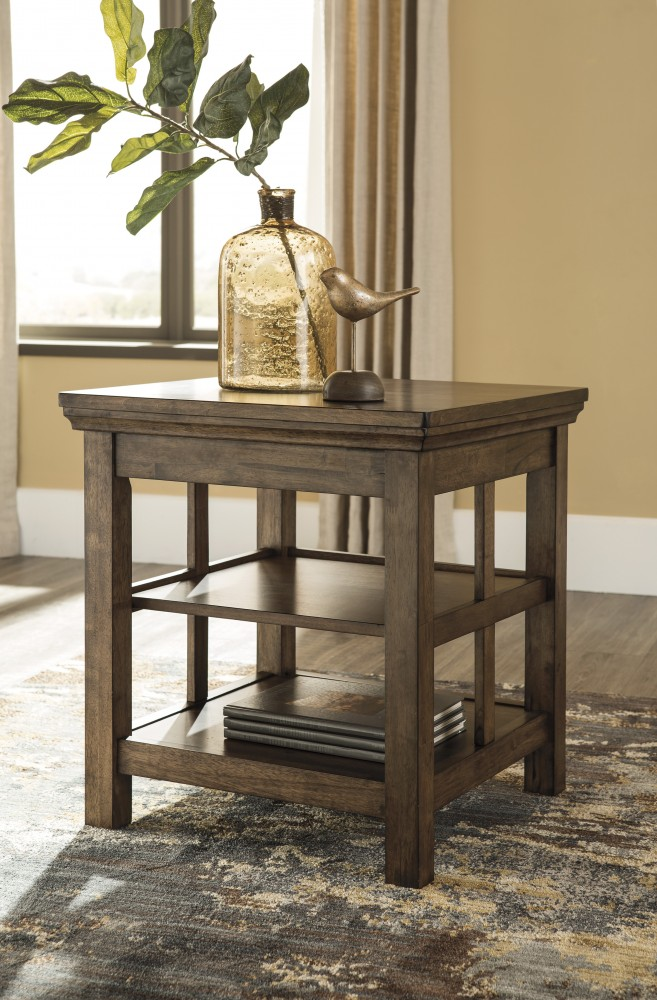 Flynnter   Medium Brown   Square End Table