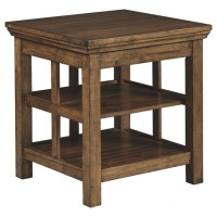 Flynnter - Medium Brown - Square End Table