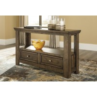Flynnter - Medium Brown - Sofa Table