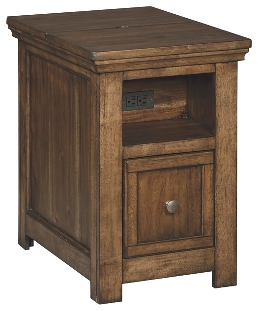 Flynnter - Medium Brown - Chair Side End Table   T919-7   Chair Side ...