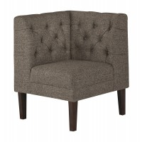 Tripton - Medium Brown - Corner Upholstered Bench