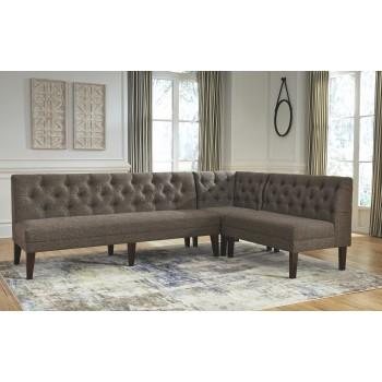 Tripton - Medium Brown - Corner Upholstered Bench