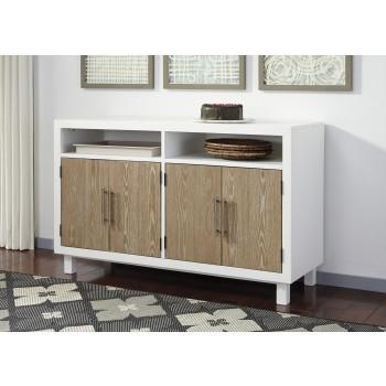 Gardomi - White/Light Brown - Dining Room Server