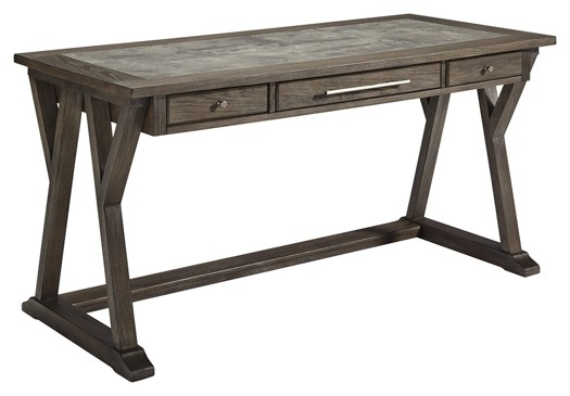 Luxenford - Grayish Brown - Home Office Large Leg Desk