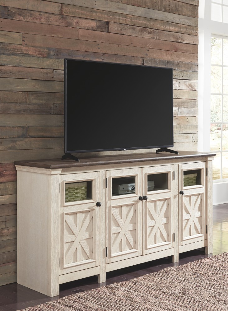 Tv Tables Big Tv Stand: Bolanburg - Two-tone - Extra Large TV Stand