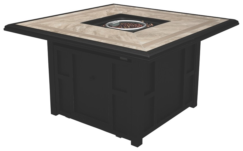 Chestnut Ridge - Brown - Square Fire Pit Table