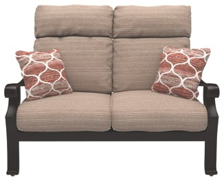 Chestnut Ridge Brown Loveseat W Cushion P445 835 Loveseats