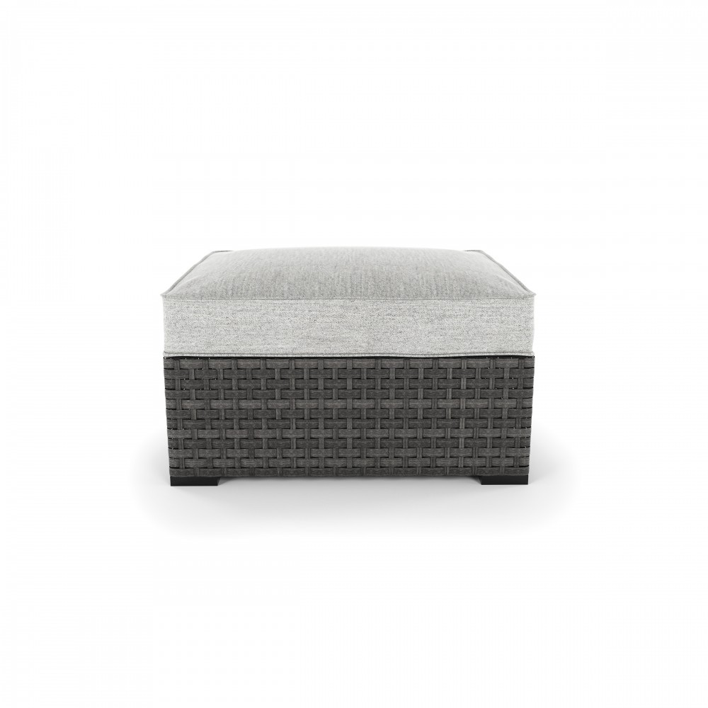 Spring Dew   Gray   Ottoman With Cushion