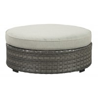 Spring Dew Ottoman with Cushion