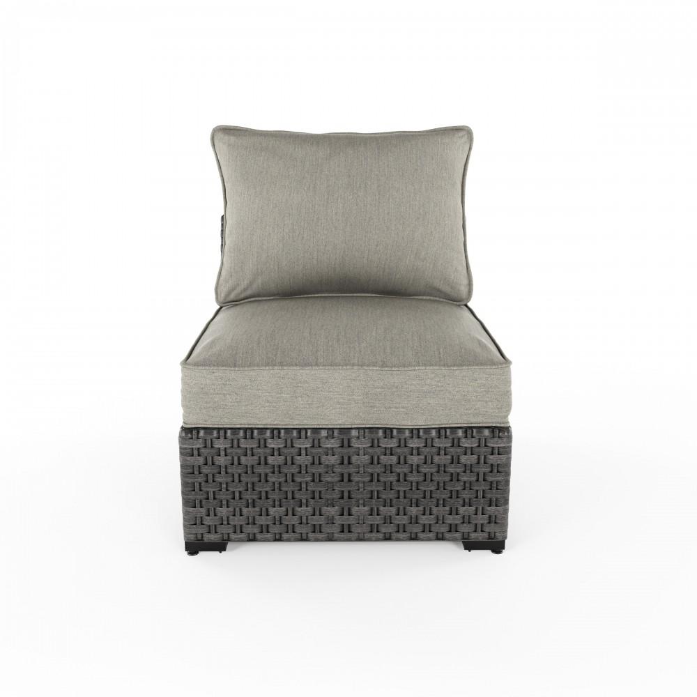 Spring Dew - Gray - Armless Chair w/Cushion (2/CN) - Spring Dew - Gray - Armless Chair W/Cushion (2/CN) P453-846