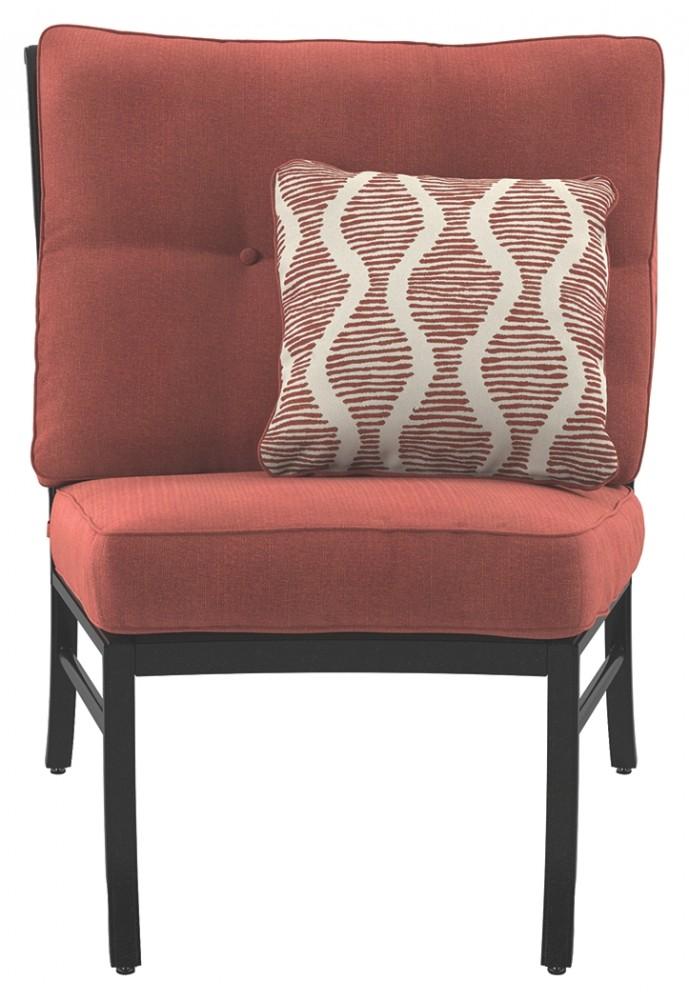 Burnella   Brown   Armless Chair W/Cushion (1/CN)