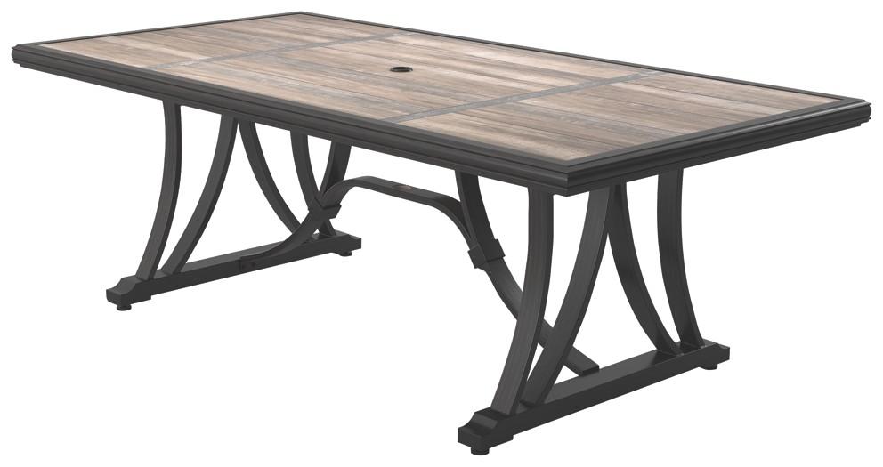 Marsh Creek - Brown - RECT Dining Table w/UMB OPT