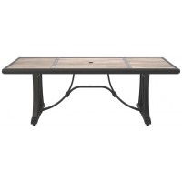Marsh Creek - Brown - RECT Dining Table w/UMB OPT